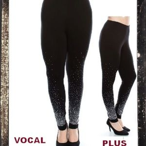 d7700afed4295e NEW PLUS VOCAL RHINESTONE STUDDED LEGGINGS